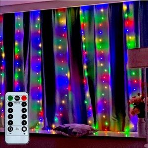 NEW multi colors curtain lights w remote